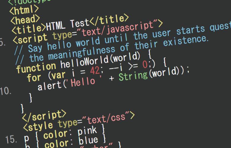 HTMLソースコードを色分けし、行番号付けて見やすくする方法